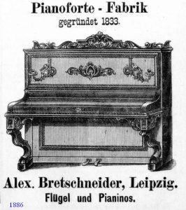Bretschneider Anzeige 1886