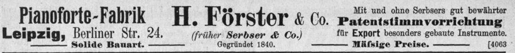 Förster, H, 1896