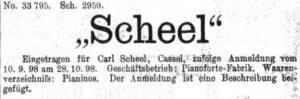 Scheel 1898