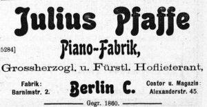 Pfaffe 1905
