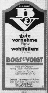 Bogs & Voigt 1913