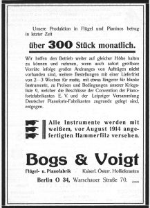 Bogs & Voigt 1916