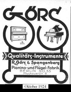 Görs, Anzeige 1924
