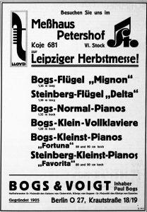 Bogs & Boigt 1937