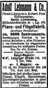 Lehmann, Adressbuch 1912
