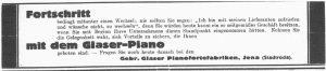 Anzeige Glaser-Piano