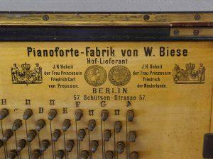 W. Biese Klavier