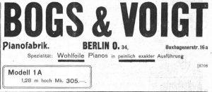 Bogs & Voigt 1906