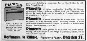Hoffmann & Kühne, Pianetta