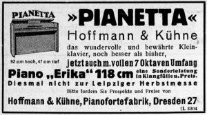 Hoffmann & Kühne, Piano Erika