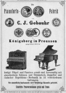 Gebauhr Inserat 1881