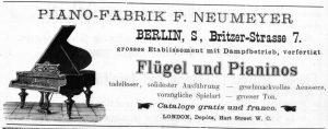 Inserat F. Neumeyer von 1886