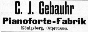 Gebauhr Inserat 1892