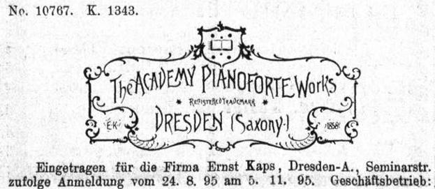 Kaps 1895 Anzeige