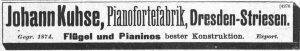Kuhse, Anzeige 1906