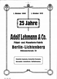 Lehmann Anzeige 1915