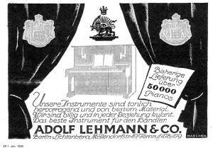Lehmann Anzeige 1926