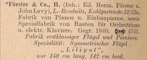 Förster, H. 1912