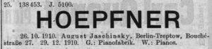 Jaschinsky Warenzeichen