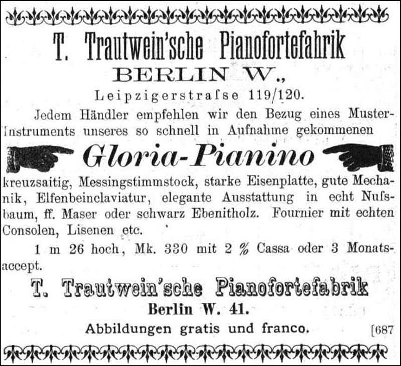 Fa. Trautwein 1892