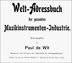 Weltadressbuch der Musikinstrumentenindustrie